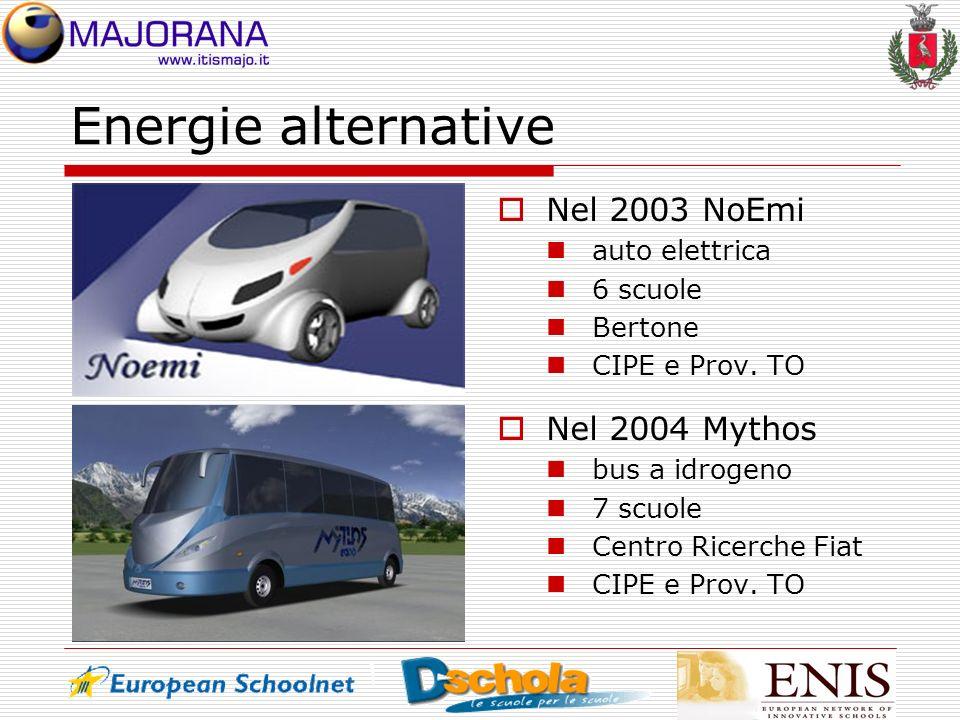 Energie alternative Nel 2003 NoEmi Nel 2004 Mythos auto elettrica
