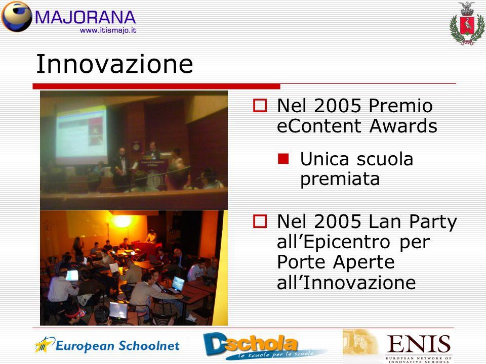 Innovazione Nel 2005 Premio eContent Awards