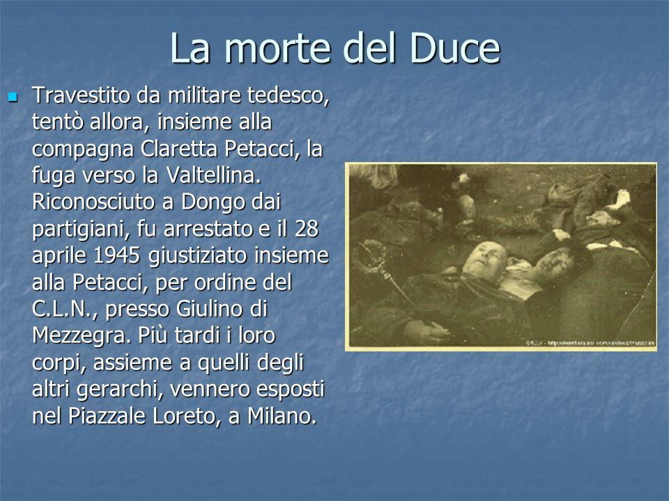 La morte del Duce