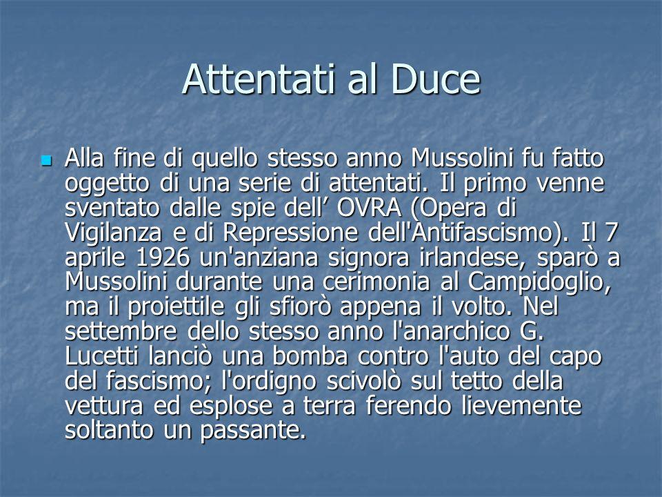 Attentati al Duce