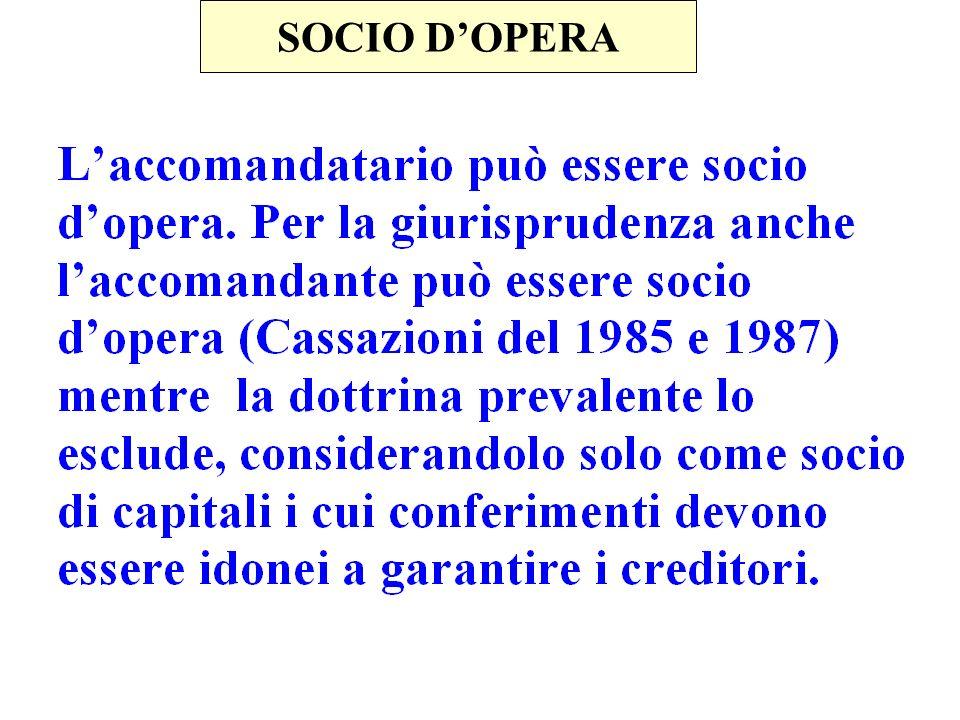 SOCIO D'OPERA