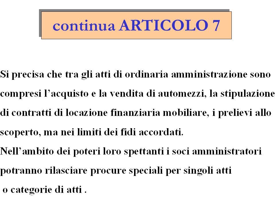 continua ARTICOLO 7