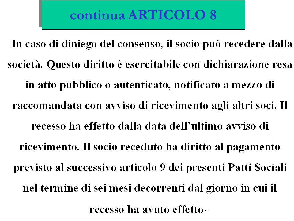 continua ARTICOLO 8