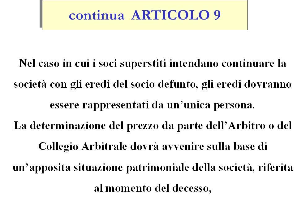 continua ARTICOLO 9