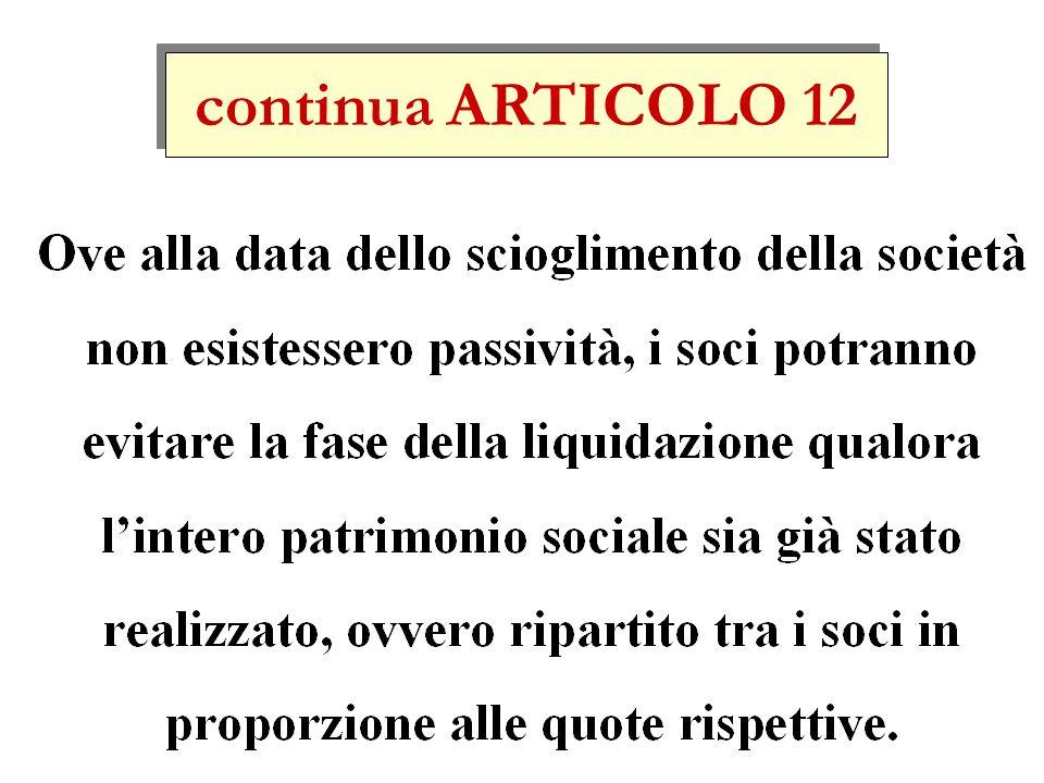 continua ARTICOLO 12