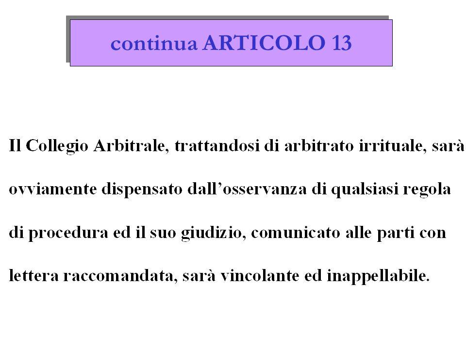 continua ARTICOLO 13