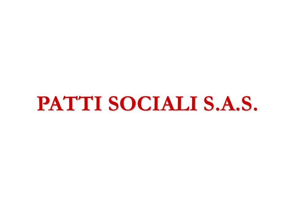 PATTI SOCIALI S.A.S.