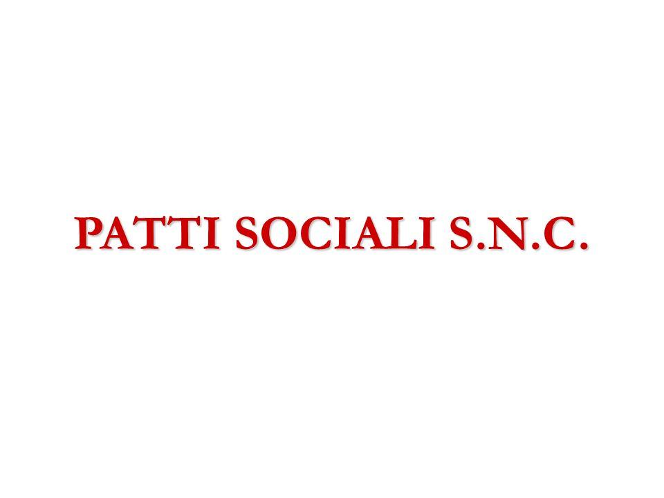 PATTI SOCIALI S.N.C.