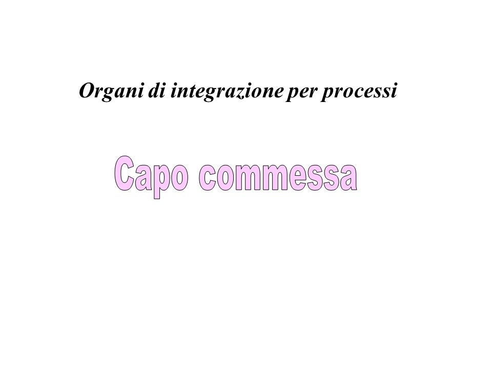 Organi di integrazione per processi