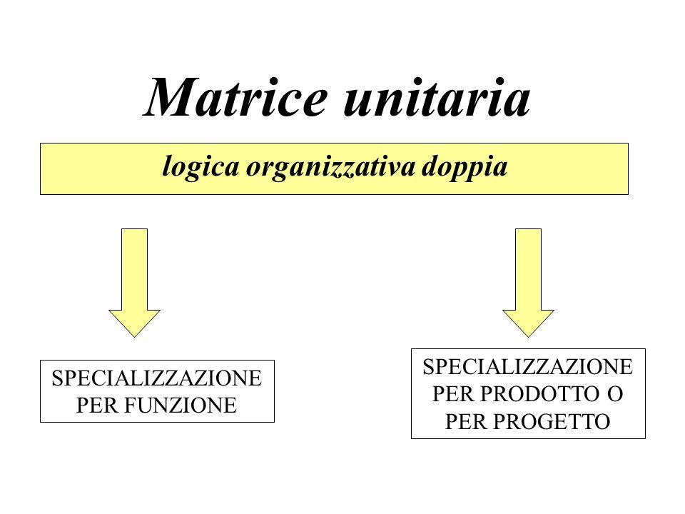 Matrice unitaria logica organizzativa doppia