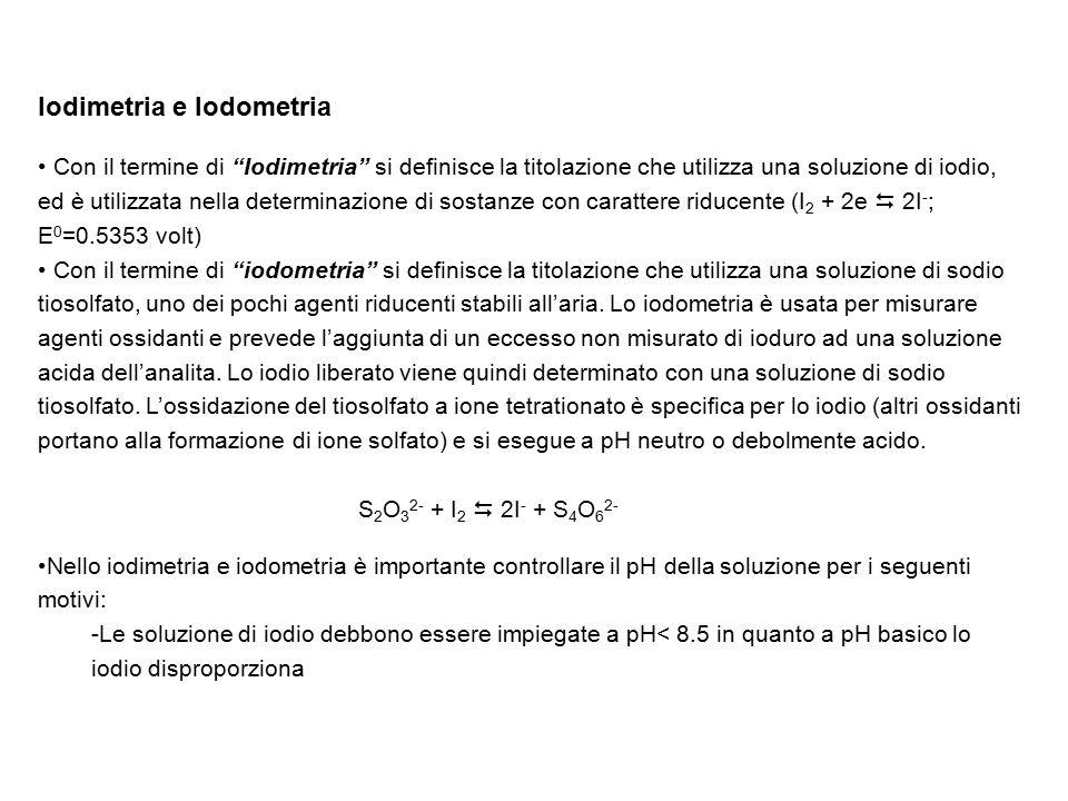 Iodimetria e Iodometria