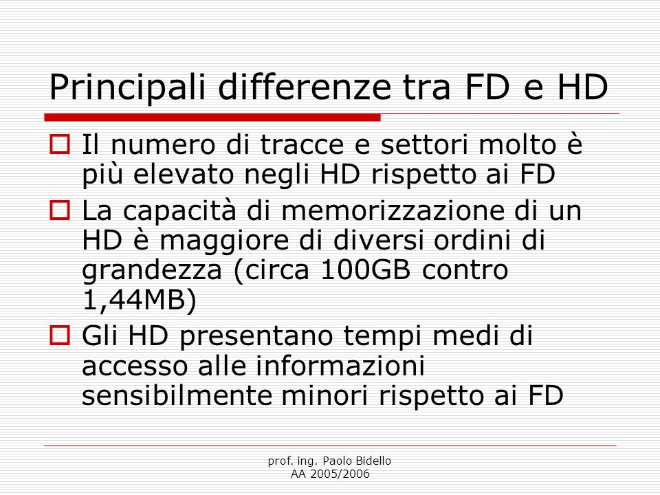 Principali differenze tra FD e HD
