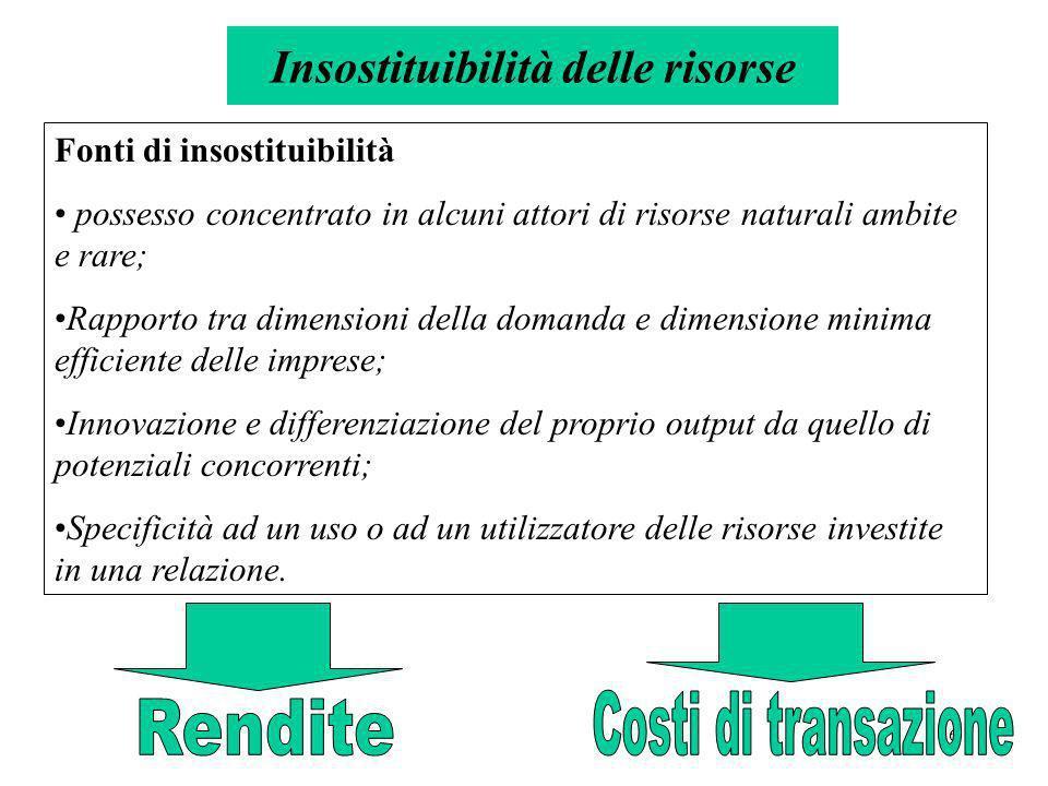 Insostituibilità delle risorse