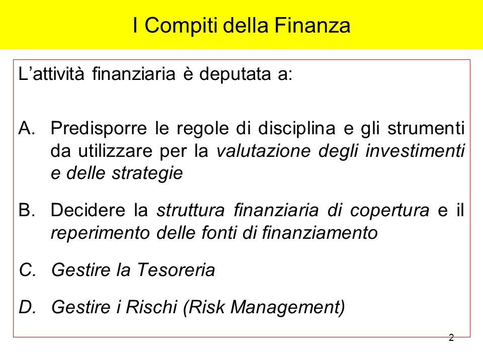 I Compiti della Finanza