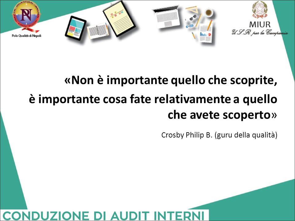 «Non è importante quello che scoprite, è importante cosa fate relativamente a quello che avete scoperto» Crosby Philip B.