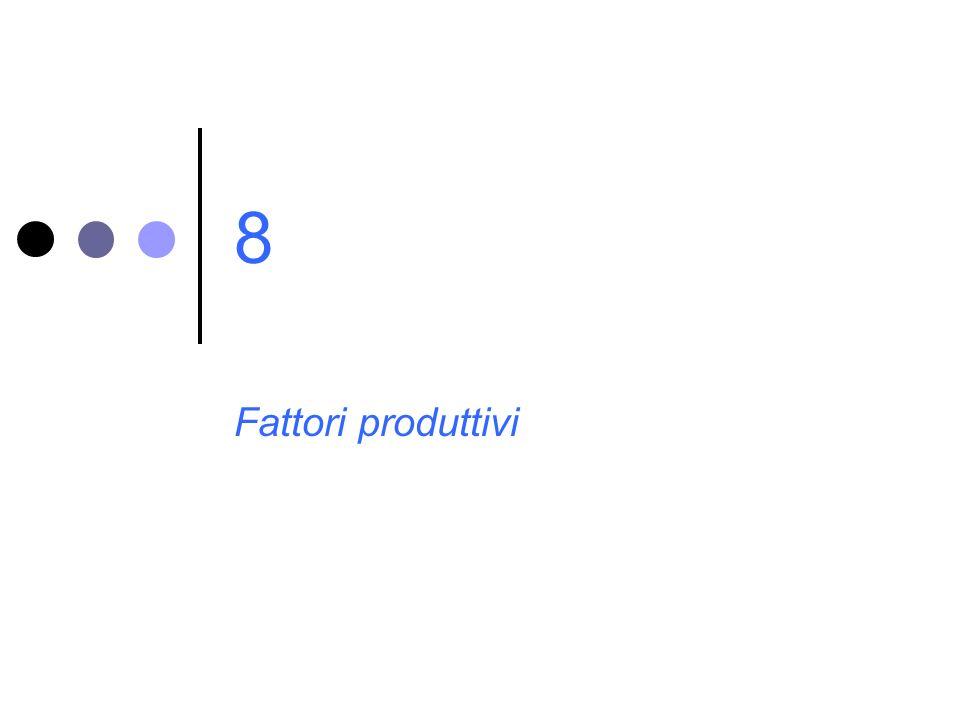 8 Fattori produttivi