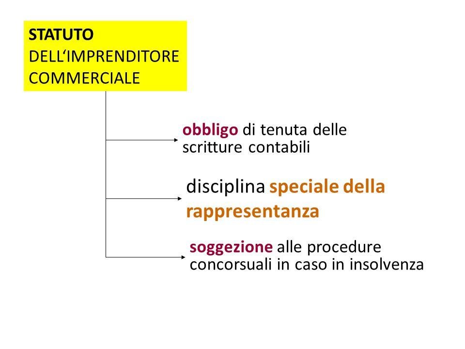 disciplina speciale della rappresentanza