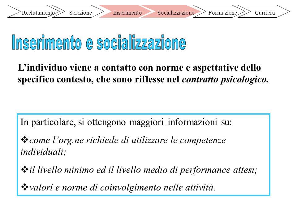 Inserimento e socializzazione