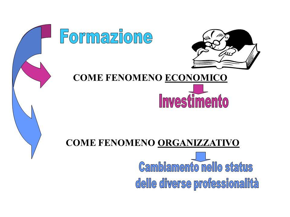 Formazione COME FENOMENO ECONOMICO Investimento