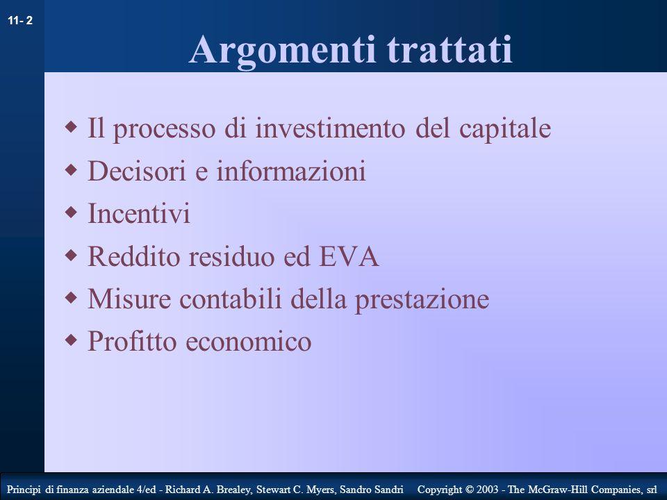 Argomenti trattati Il processo di investimento del capitale