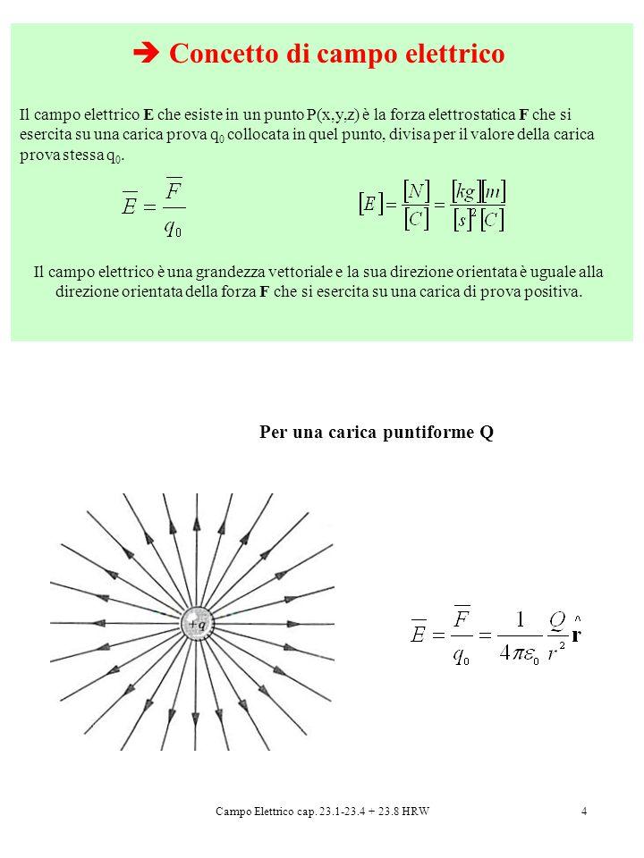  Concetto di campo elettrico