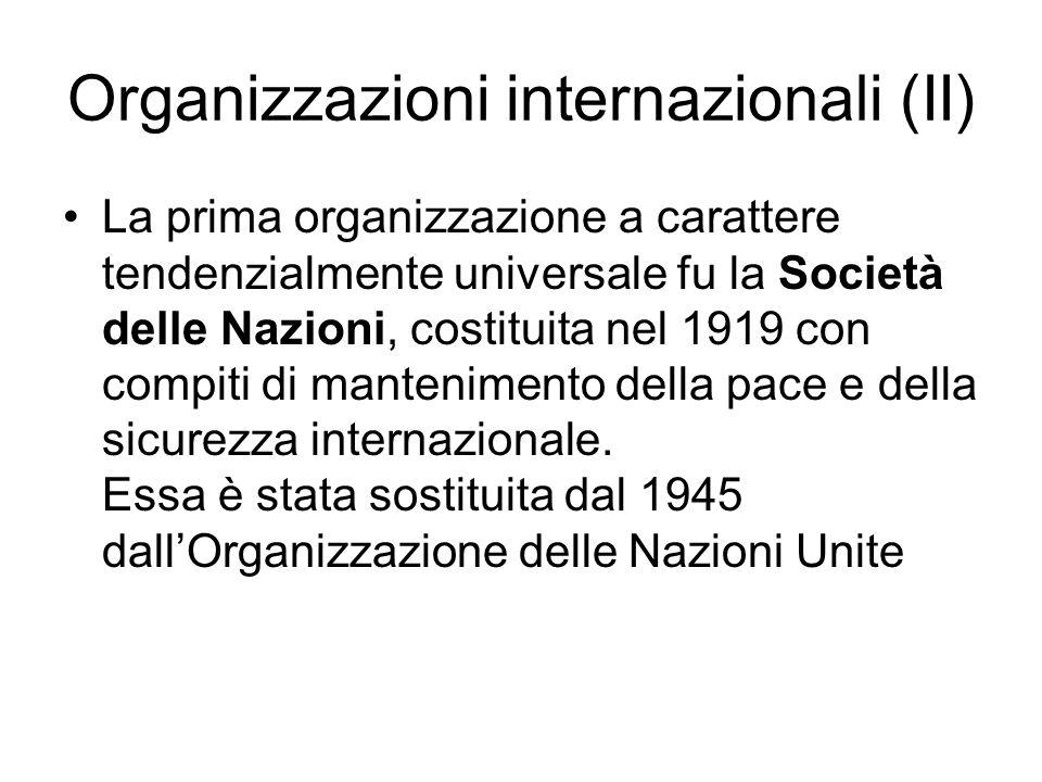 Organizzazioni internazionali (II)
