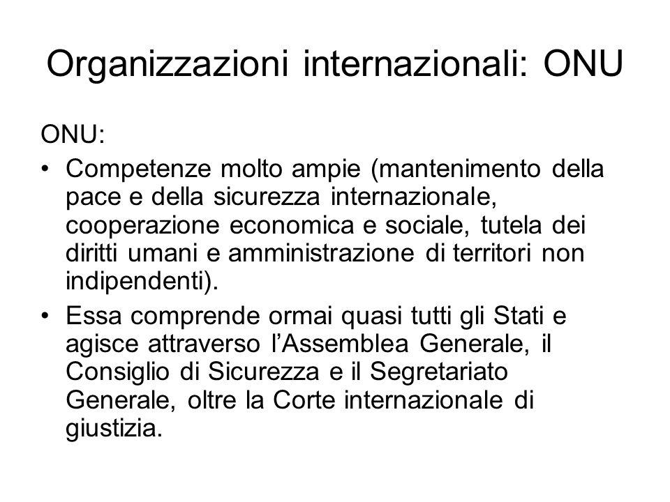 Organizzazioni internazionali: ONU