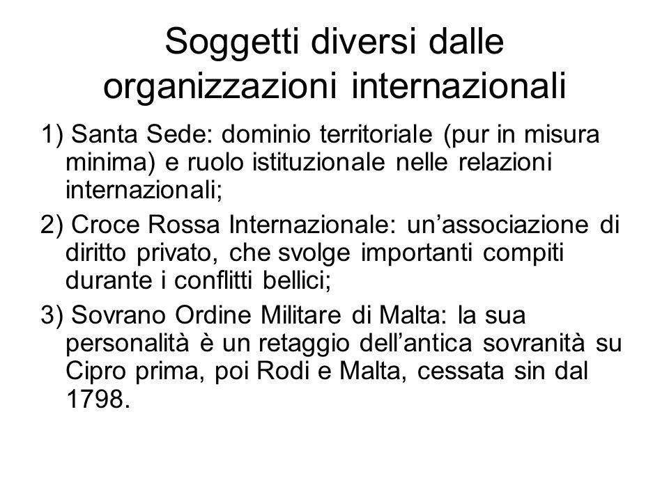 Soggetti diversi dalle organizzazioni internazionali