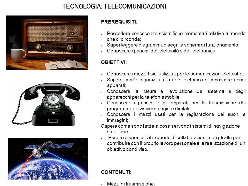 TECNOLOGIA: TELECOMUNICAZIONI