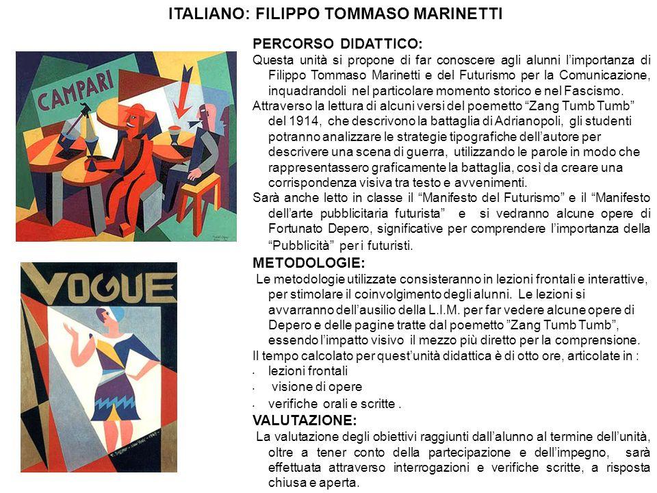 ITALIANO: FILIPPO TOMMASO MARINETTI