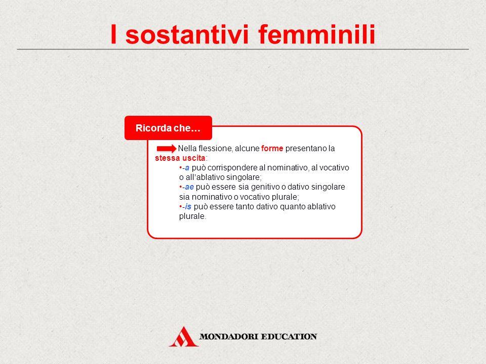 I sostantivi femminili
