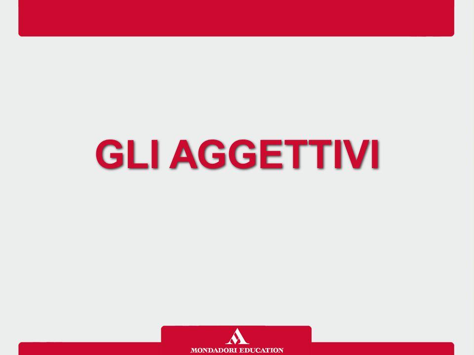 GLI AGGETTIVI