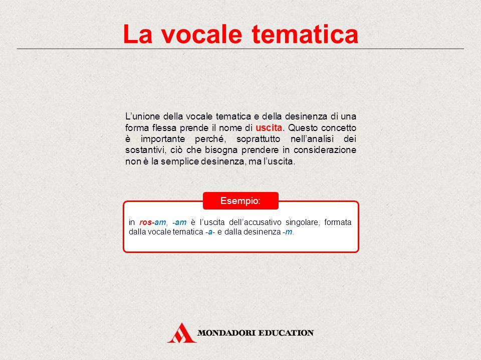 La vocale tematica