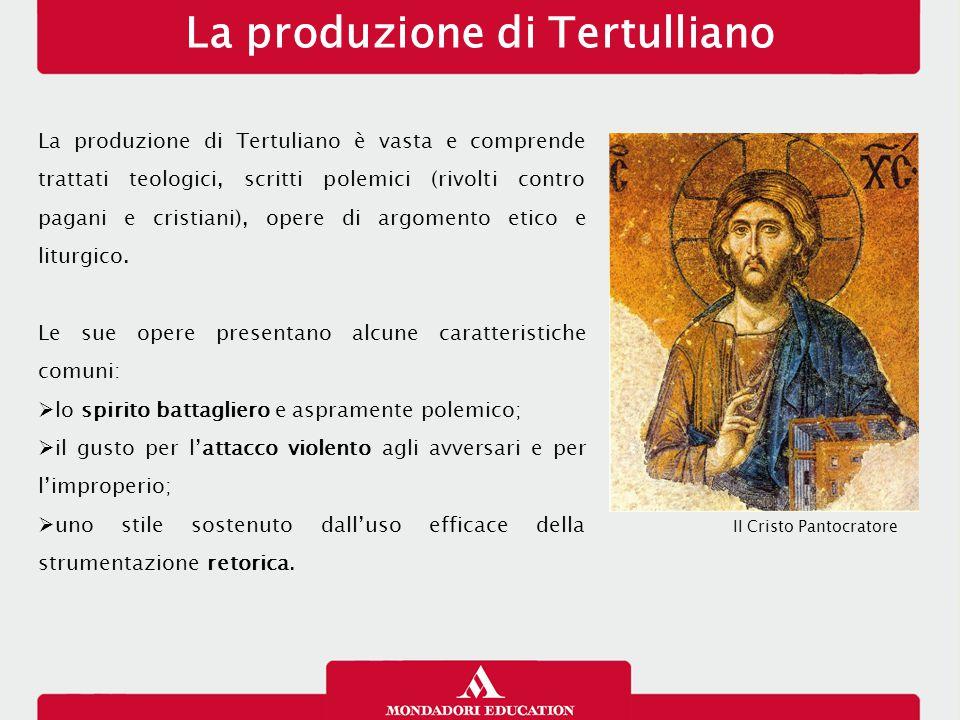 La produzione di Tertulliano