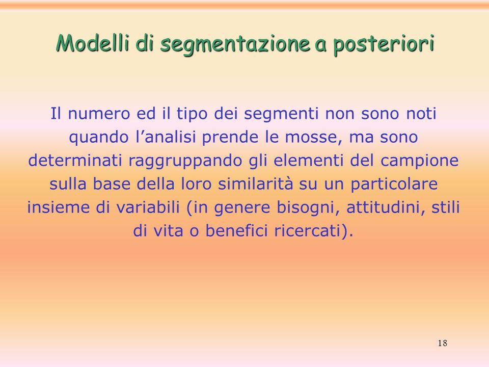 Modelli di segmentazione a posteriori