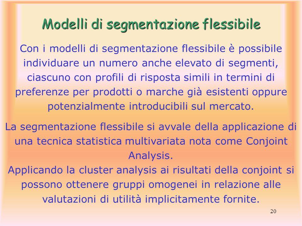 Modelli di segmentazione flessibile