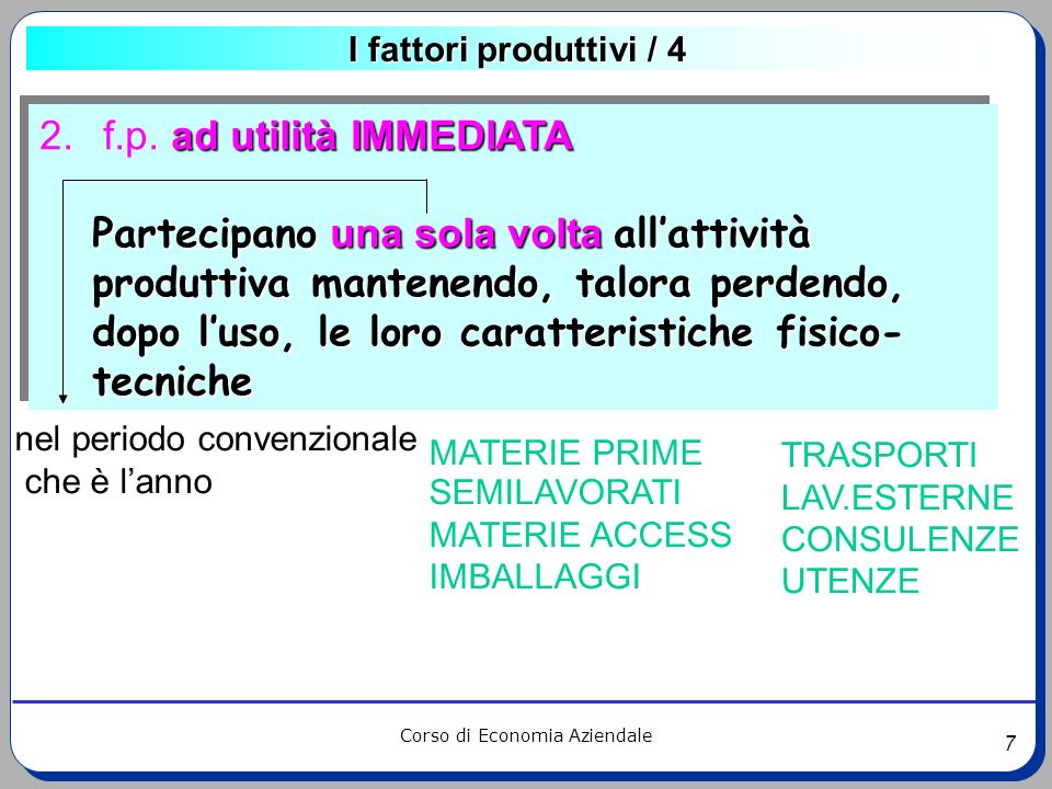 f.p. ad utilità IMMEDIATA
