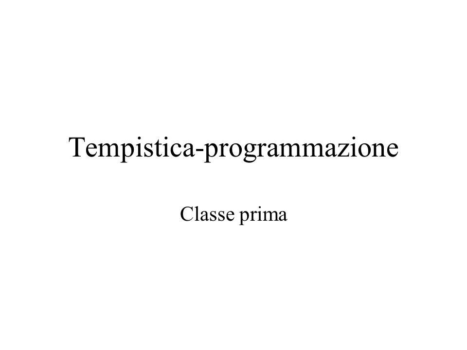 Tempistica-programmazione