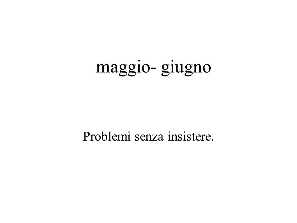 Problemi senza insistere.
