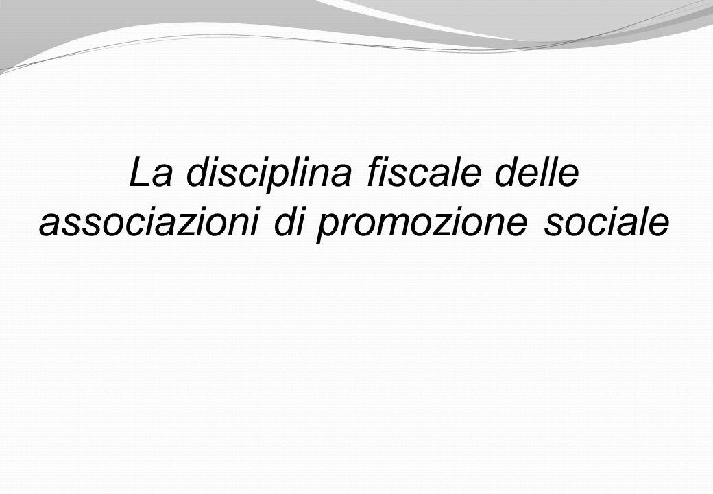 La disciplina fiscale delle associazioni di promozione sociale