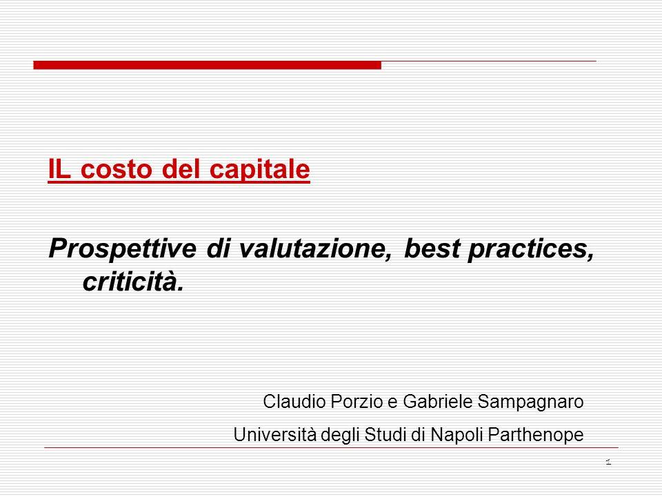 Prospettive di valutazione, best practices, criticità.