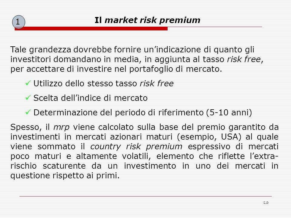 1 Il market risk premium.