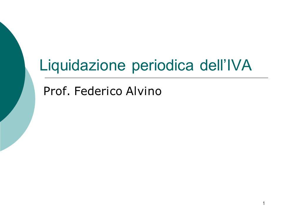 Liquidazione periodica dell'IVA