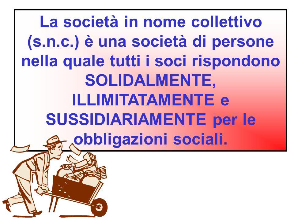 La società in nome collettivo (s. n. c
