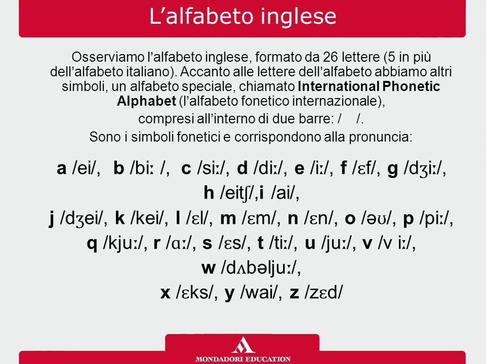 L'alfabeto inglese