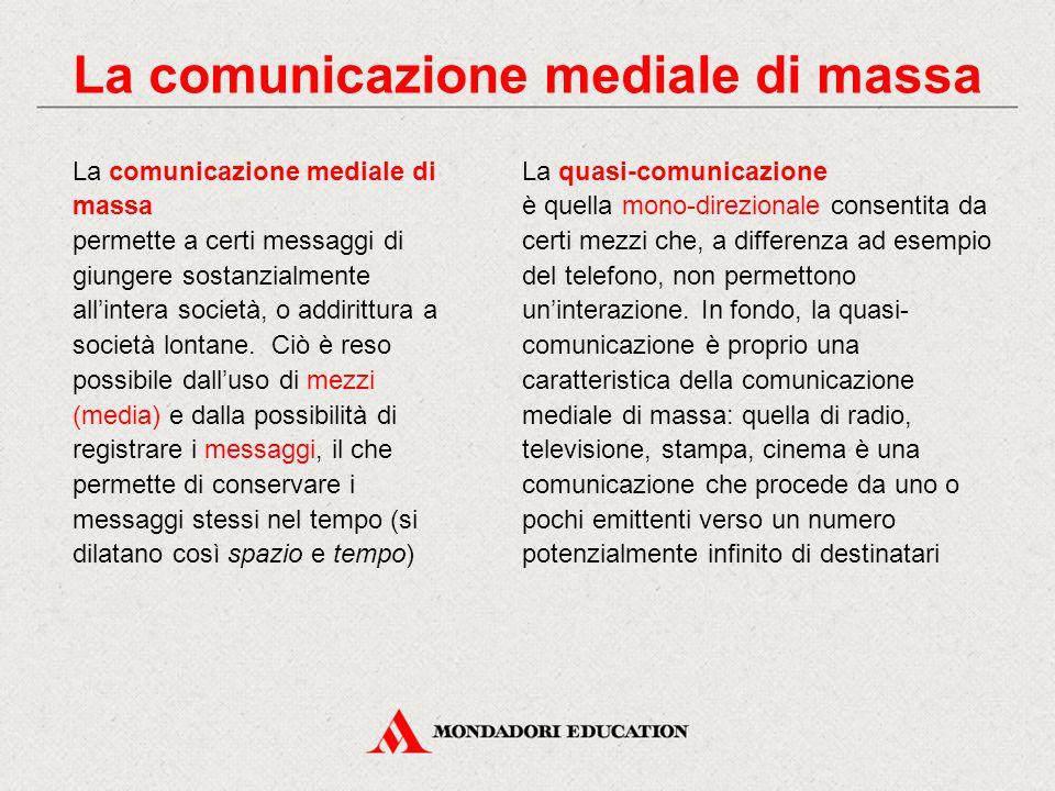 La comunicazione mediale di massa