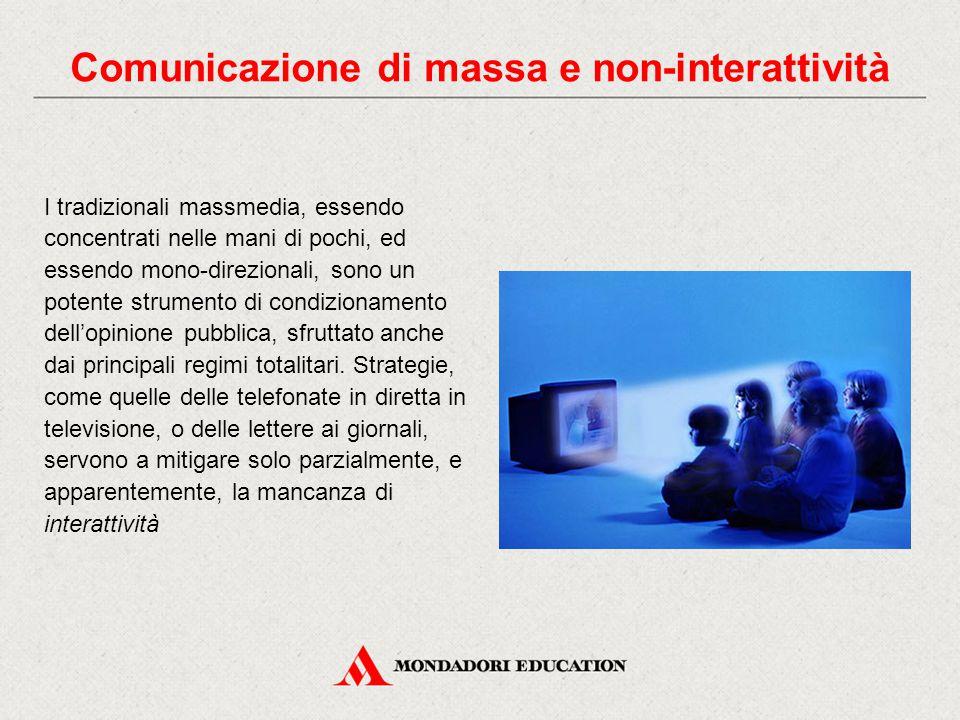 Comunicazione di massa e non-interattività
