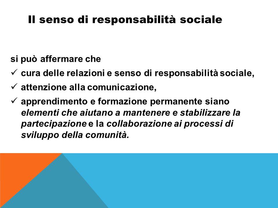 Il senso di responsabilità sociale