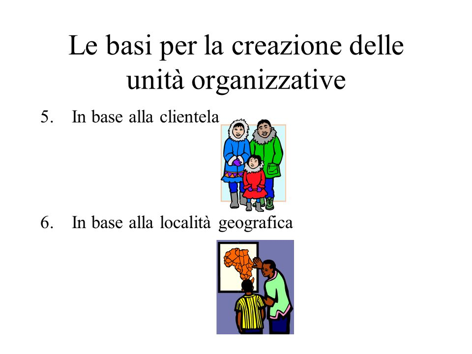 Le basi per la creazione delle unità organizzative
