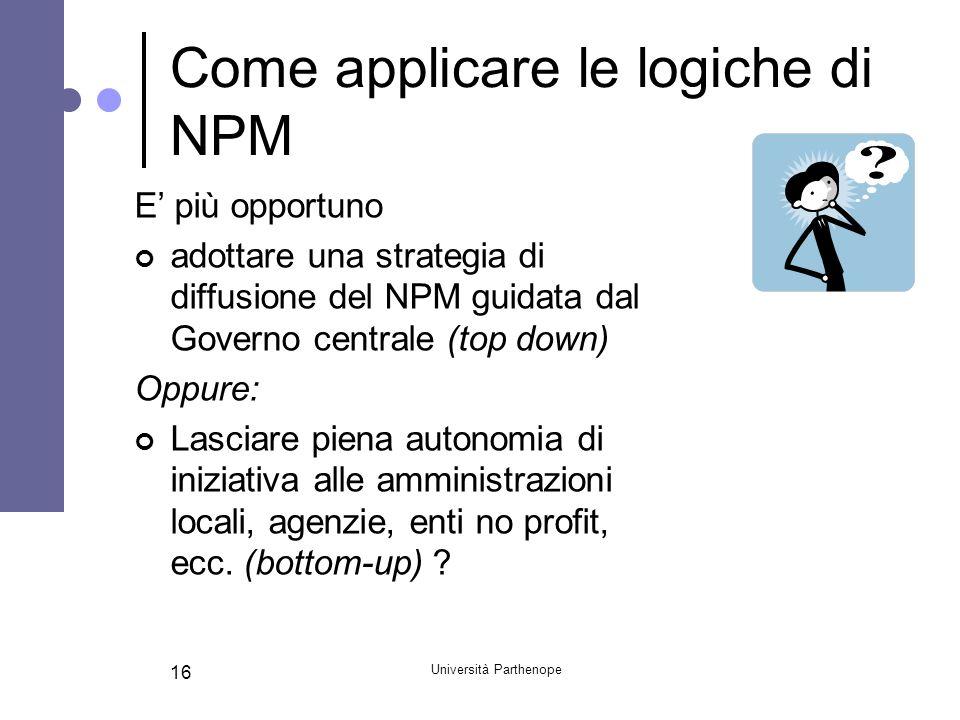 Come applicare le logiche di NPM